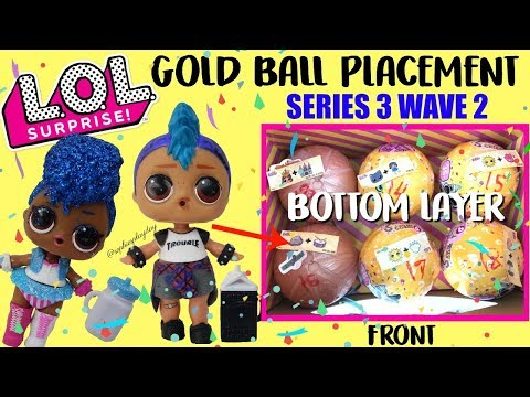 Punk Boi LOL Surprise Confetti Pop Wave 2 Series 3, Gold ball Placement Hack Independent Queen Found