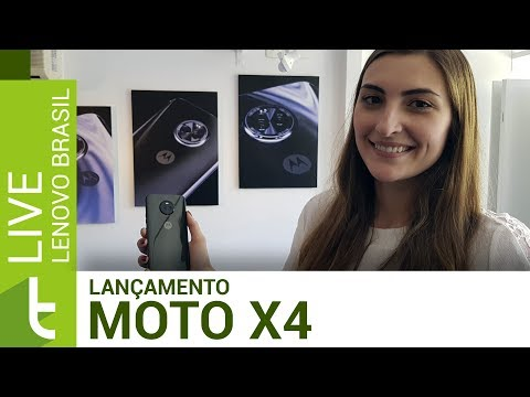 Evento de lançamento do Moto X4 no Brasil