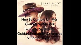 Jesse & Joy - Dueles  (Letra)