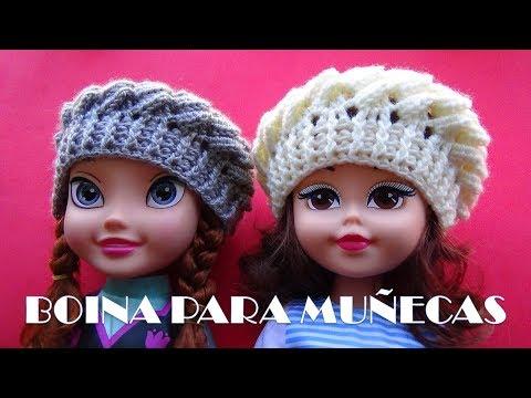 Смотреть видео Boina a Crochet para Muñecas - REGALOS PARA NAVIDAD онлайн bf495fc424b