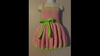 CROCHET How to #Crochet 18-24 months Girls Special Occasion Dress #TUTORIAL #235 LEARN CROCHET DYI