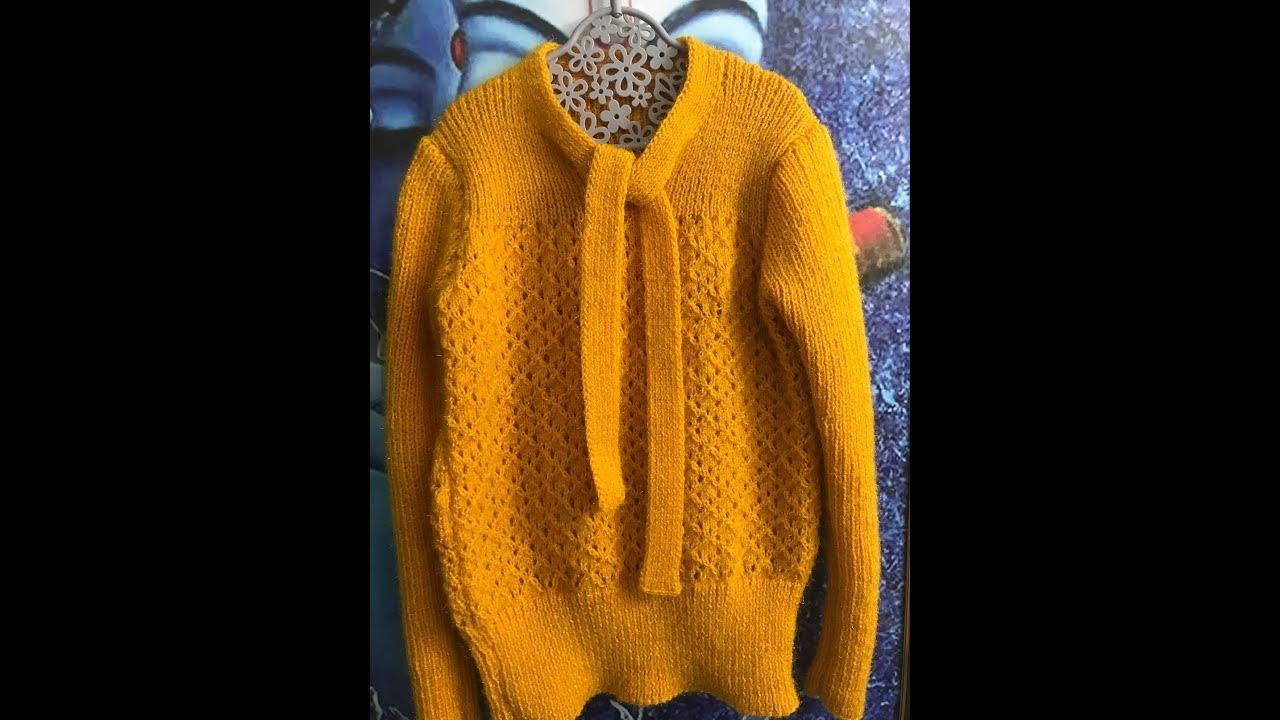 9f1b02b60 Knitting Stylish Neck with full measurements ( गले का ...