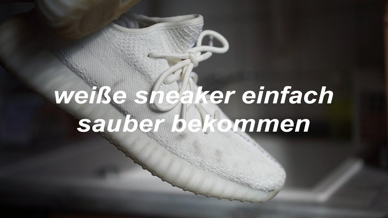 Yeezy Boost 350 V2 Cream White reinigen mit Adidas Originals Sneaker
