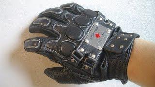 YeLLOW CORN イエローコーン「レザーメッシュグローブ」(2004年頃の製品)オートバイ用グローブ