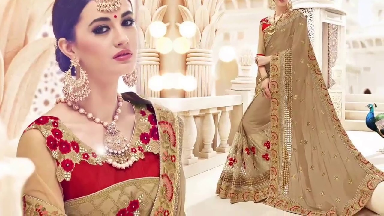 Designer Saree Blouse Fashionable Embroidered Sarees Models
