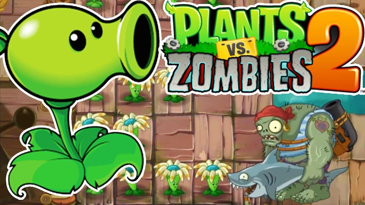 Plants vs Zombies 2 - Pirates Seas Day 28 - full walkthrough PVZ 2