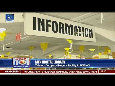 MTN Digital Library: Telecom Company Reopens Facility At UNILAG