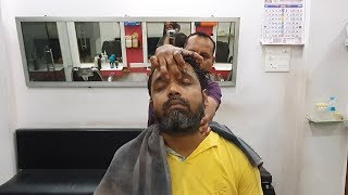 Intense head massage with neck cracking by Boss Indian Massage