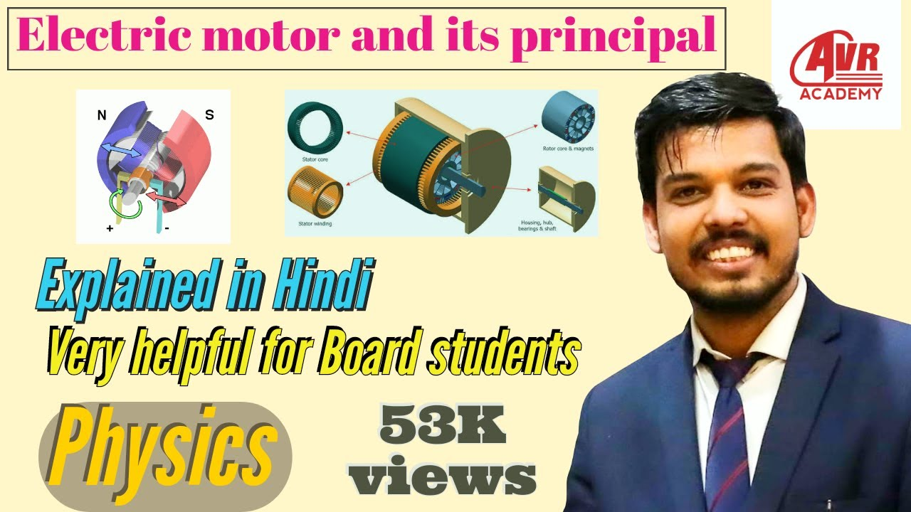 electric motor physics. Principle And Working Of Electric Motor In Hindi | Physics By Ankur Mishra P