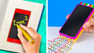 Weird Ways To Sneak Gadgets In Class    Hide Your Phone From Teacher And Parents