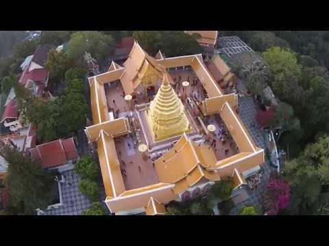 Wat Phra That Doi Suthep, seen from a Drone Part 2/2 (Uncut) HD
