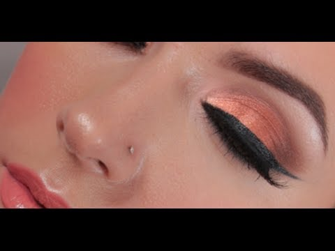 Copper and Gold Evening Makeup Tutorial