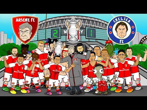 🏆Arsenal win the FA Cup🏆 (Arsenal vs Chelsea 2-1 FA Cup Final Parody Song Goals & Highlights)