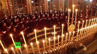 В храме Христа Спасителя прошло ночное рождественское богослужение(7 января православный мир отмечает Рождество Христово. Накануне в храме Христа Спасителя патриарх Московск..., 2015-01-07T10:11:32.000Z)