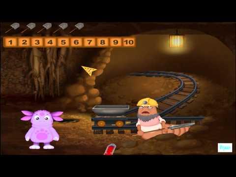 Развивающие игры: Поезд в тоннеле - Лунтик учит цифры от 1 до 10