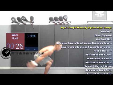 20 Minute Body Weight & Bands Workout- UMC (Ultimate Muscle Confusion)
