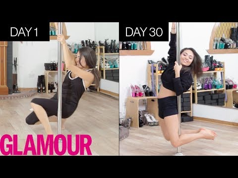 Learning To Pole Dance In 30 Days | Glamour
