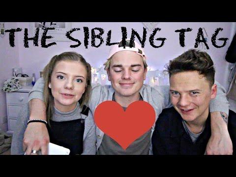 THE SIBLING TAG  ft CONOR MAYNARD & MY SISTER