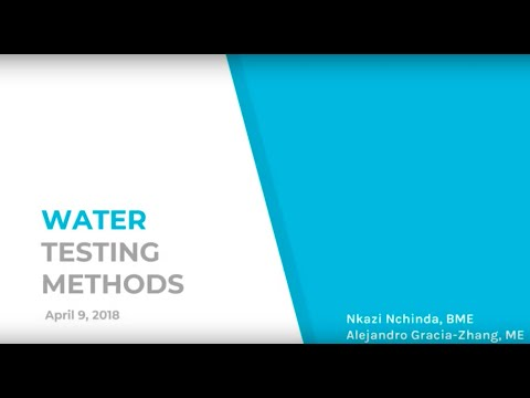 Water Quality Testing Methods