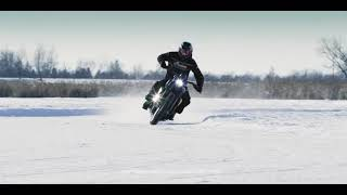 Heroes Of The FTR – Brad Baker on ice with the FTR1200 Custom