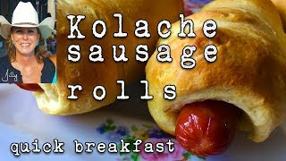 Sausage Kolache Recipe - Sausage in a Biscuit Blanket ~ Texas Kolache