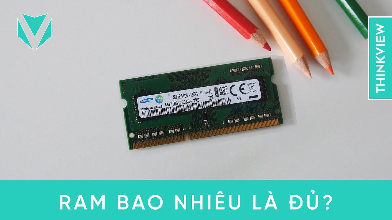 Laptop của bạn cần bao nhiêu RAM là đủ? | ThinkView