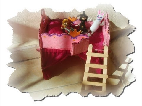 Part 1 how to make a barbie princess bed youtube for How to make a princess bed
