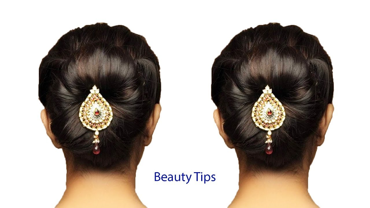 Party Khopa  Flower Bun Hairstyle for Girls  Easy Hairstyle for Long Hair   Hairstyles Tutorial