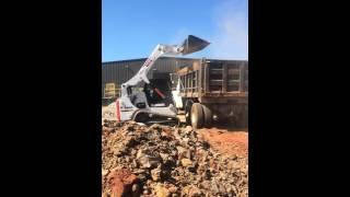 Bobcat T650 Loading a Dump Truck