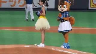 <2018.9.15オリックス戦>Mottie!!の橋本真依さんによる始球式