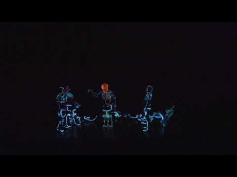 Amazing black light theater dance