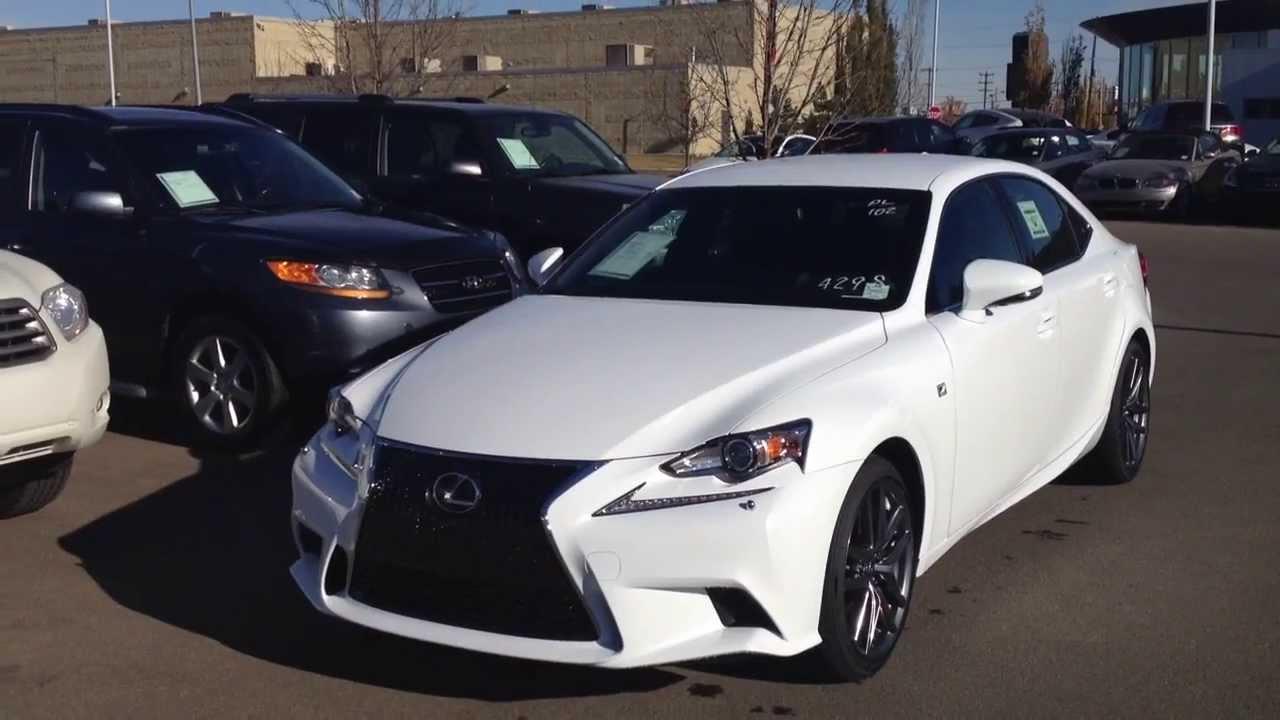 2014 Lexus Is 350 Awd White Lexus Of Edmonton
