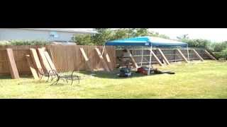 Building A Fence Using Porter Cable Fr350b Nailer - Time Lapse