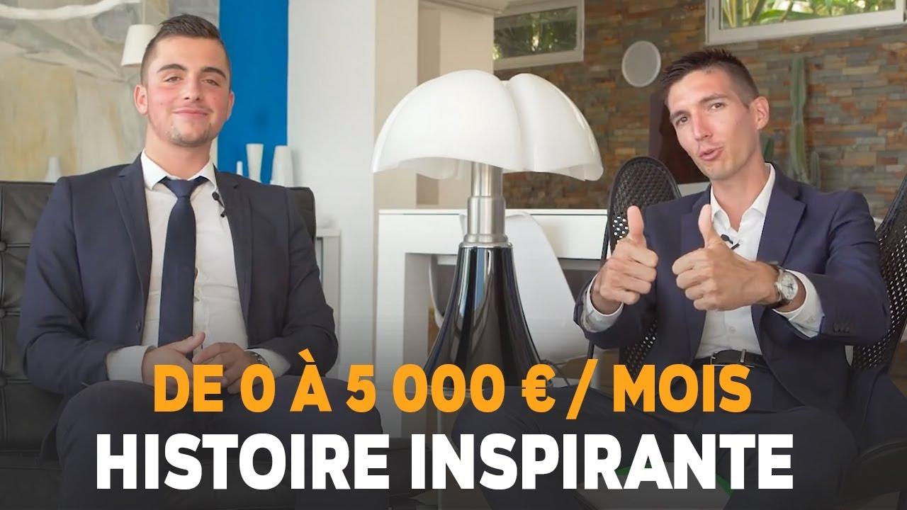 De 0 à 5000 EUROS par MOIS sur INTERNET à 18 ANS - Baptiste JOLY