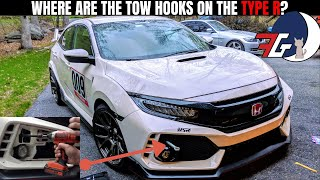 Civic Type R (FK8) Front and Rear Tow hook Install | How To Install USR Front Tow Hook