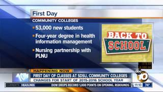 KGTV-SD: First Day of Classes for San Diego Community College District
