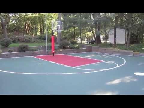full court basketball court for the backyard youtube