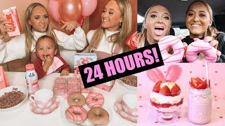 Download WE only ate PINK food for 24 HOURS challenge!!! Mp3 and Videos