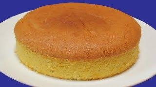 SPONGE CAKE WITHOUT OVEN   BASIC SPONGE CAKE RECIPE  PLAIN CAKE