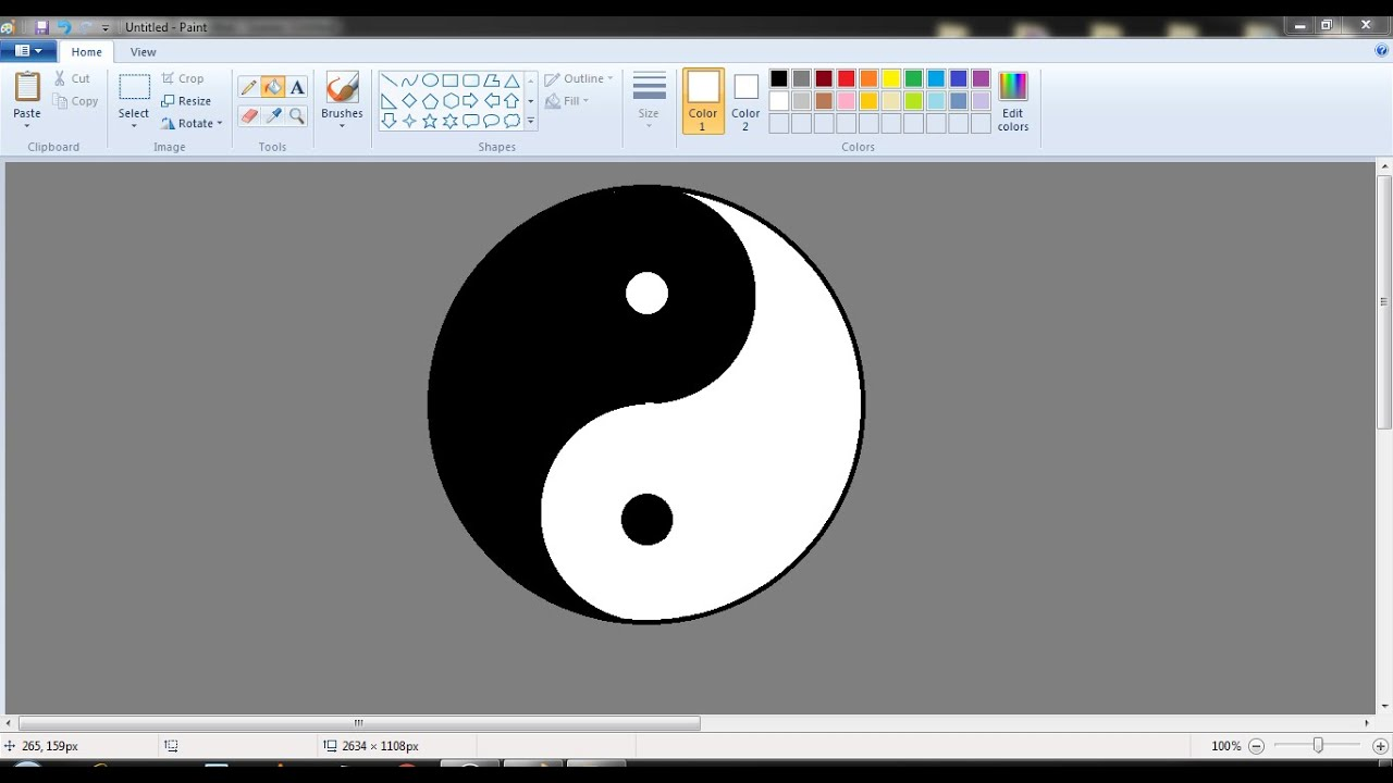 How to draw ying yang logo in ms paint from scratch youtube how to draw ying yang logo in ms paint from scratch biocorpaavc