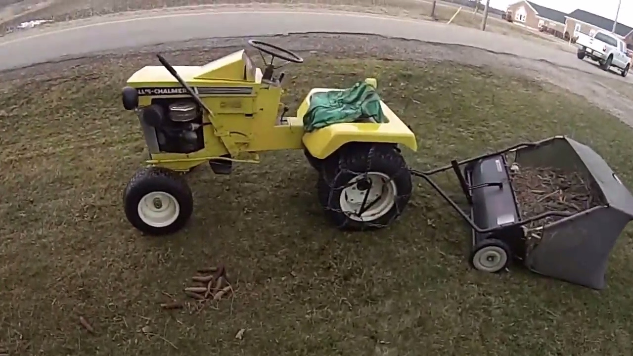 Allis Chalmers B-112 Garden tractor. Spring cleanup on April Fools ...