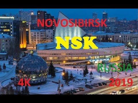 4K Novosibirsk NSK Driving Downtown Russia 4K in winter capital of siberia Part 1