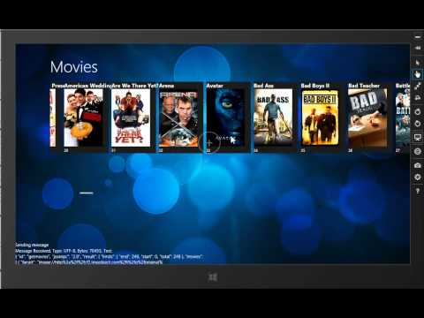 Playing around with XBMC jsonrpc on Windows 8