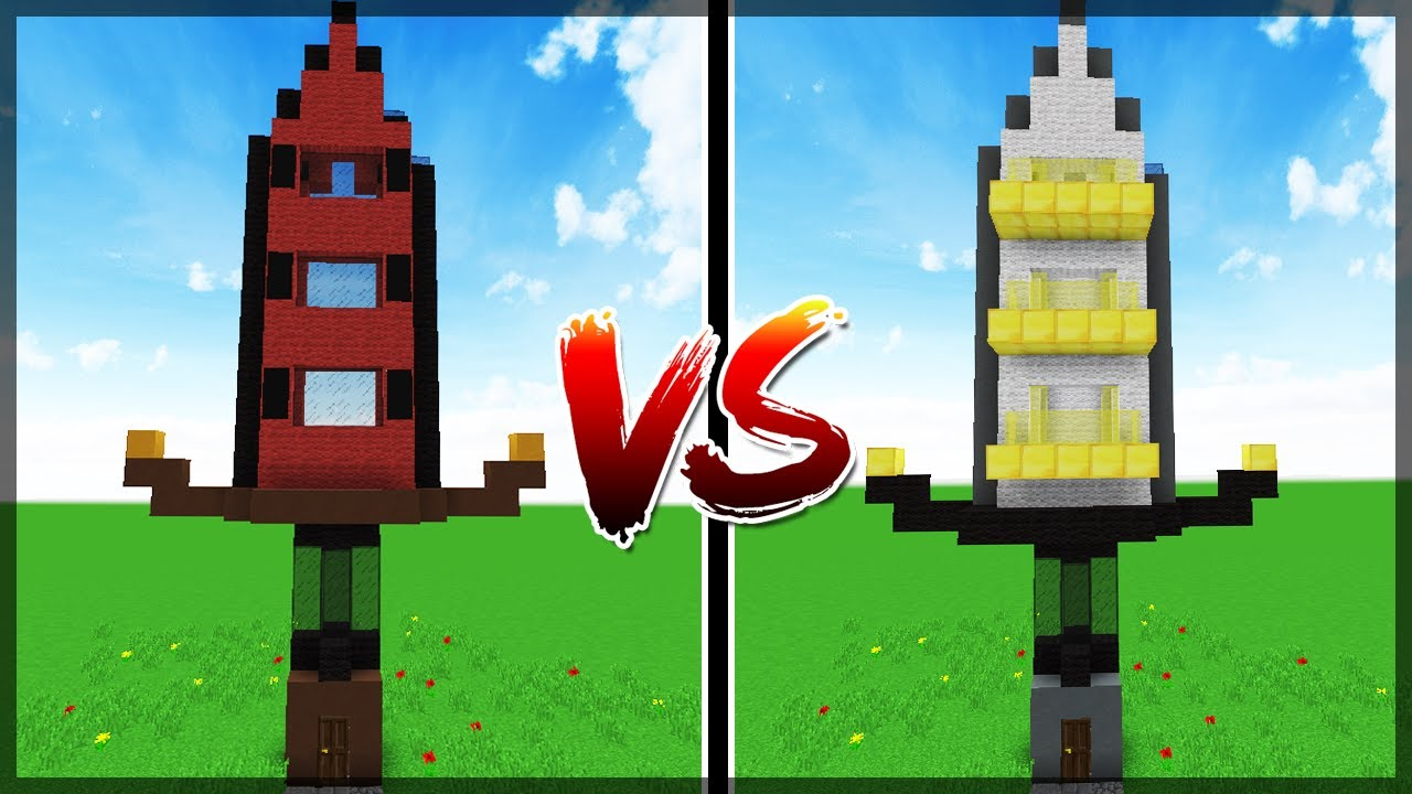 Minecraft: PRÉDIO BIG BERTHA VS PRÉDIO ROYAL GUARDIAN ...