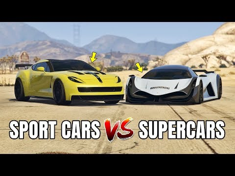 GTA 5 ONLINE - SPORT CARS VS SUPERCARS (WHICH IS FASTEST?)