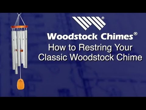 How To Restring Your Clic Style Woodstock Chimes