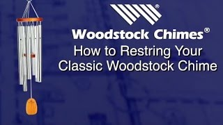 How to restring your classic style Woodstock Chimes