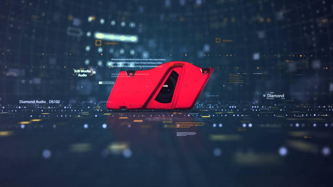 american hard bag diamond audio ds102 harley subwoofer system