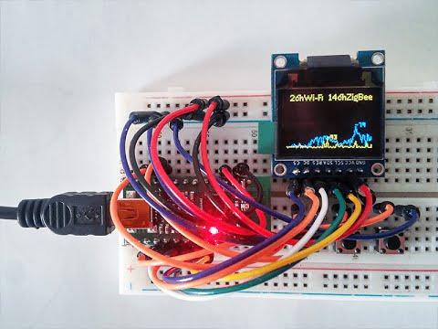 Spectrum Analyzer 2 4 GHz on Wixel with OLED SSD1331 by Sokolov Vladimir