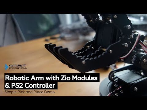 Control Robotic Arm with Zio Modules and PS2 Controller